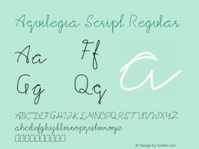 Aquilegia Script