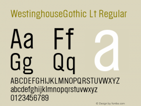 WestinghouseGothic Lt