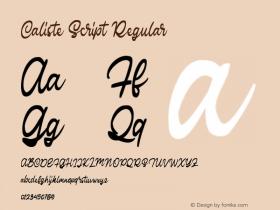 Caliste Script