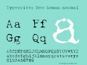 Typewriter New Roman