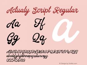 Actualy Script
