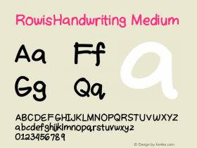 RowisHandwriting