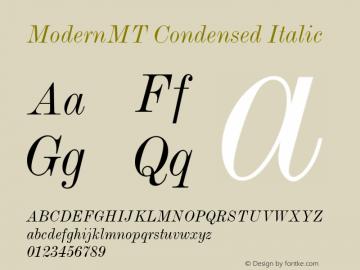 ModernMT Condensed