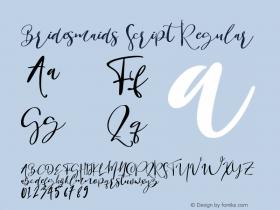 Bridesmaids Script