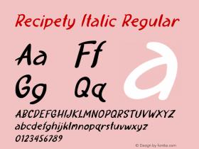 Recipety Italic