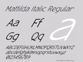 Mattilda Italic