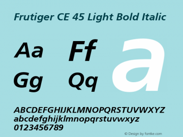 Frutiger CE 45 Light