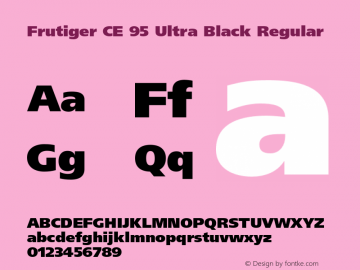 Frutiger CE 95 Ultra Black