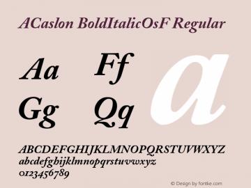ACaslon BoldItalicOsF