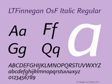 LTFinnegan OsF Italic