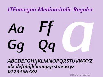 LTFinnegan MediumItalic