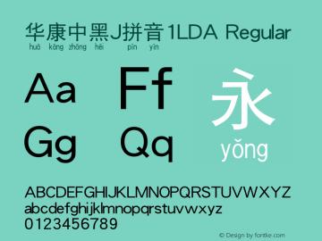 华康中黑J拼音1LDA