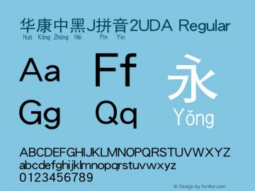 华康中黑J拼音2UDA