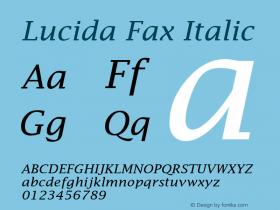 Lucida Fax