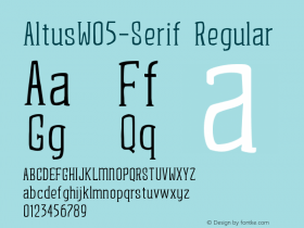 AltusW05-Serif