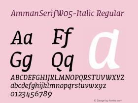 AmmanSerifW05-Italic