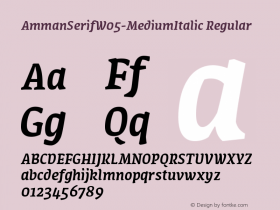 AmmanSerifW05-MediumItalic