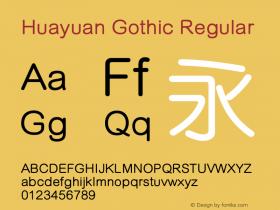 Huayuan Gothic