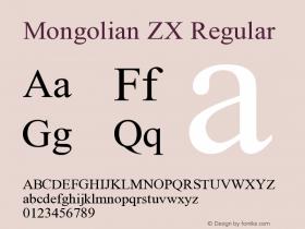 Mongolian ZX