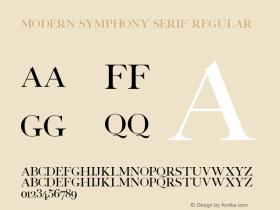 Modern Symphony Serif