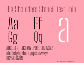 Big Shoulders Stencil Text