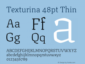 Texturina 48pt
