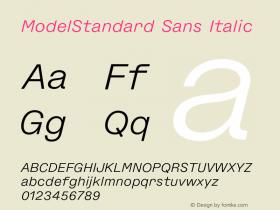 ModelStandard Sans