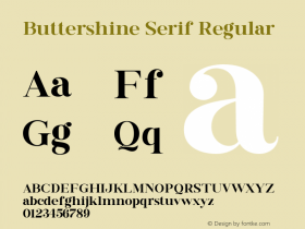 Buttershine Serif