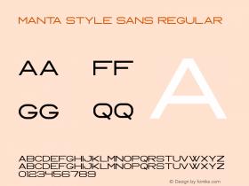 Manta Style Sans