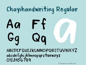 Chayihandwriting