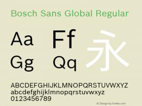 Bosch Sans Global