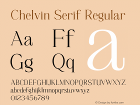 Chelvin Serif