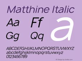 Matthine