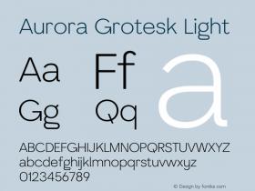 Aurora Grotesk