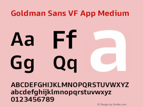 Goldman Sans VF App