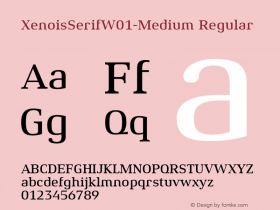 XenoisSerifW01-Medium