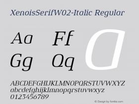 XenoisSerifW02-Italic