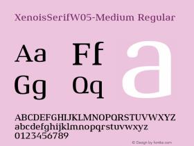 XenoisSerifW05-Medium