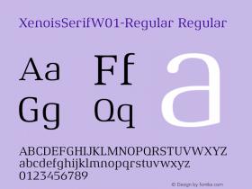 XenoisSerifW01-Regular