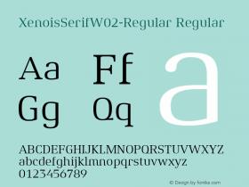 XenoisSerifW02-Regular