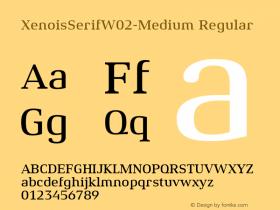 XenoisSerifW02-Medium