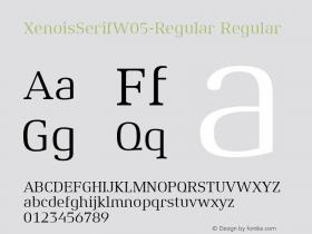 XenoisSerifW05-Regular