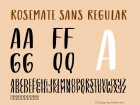 Rosemate Sans