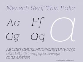 Mensch Serif