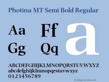 Photina MT Semi Bold