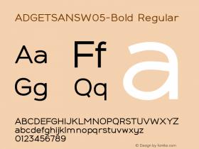 ADGETSANSW05-Bold