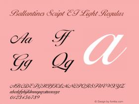Ballantines Script EF Light