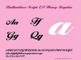 Ballantines Script EF Heavy