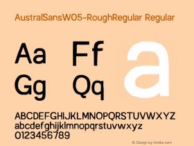 AustralSansW05-RoughRegular