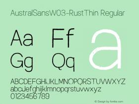 AustralSansW03-RustThin